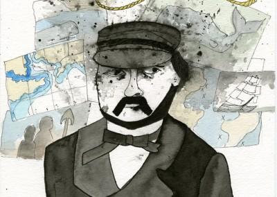 Captain Ahab White Background