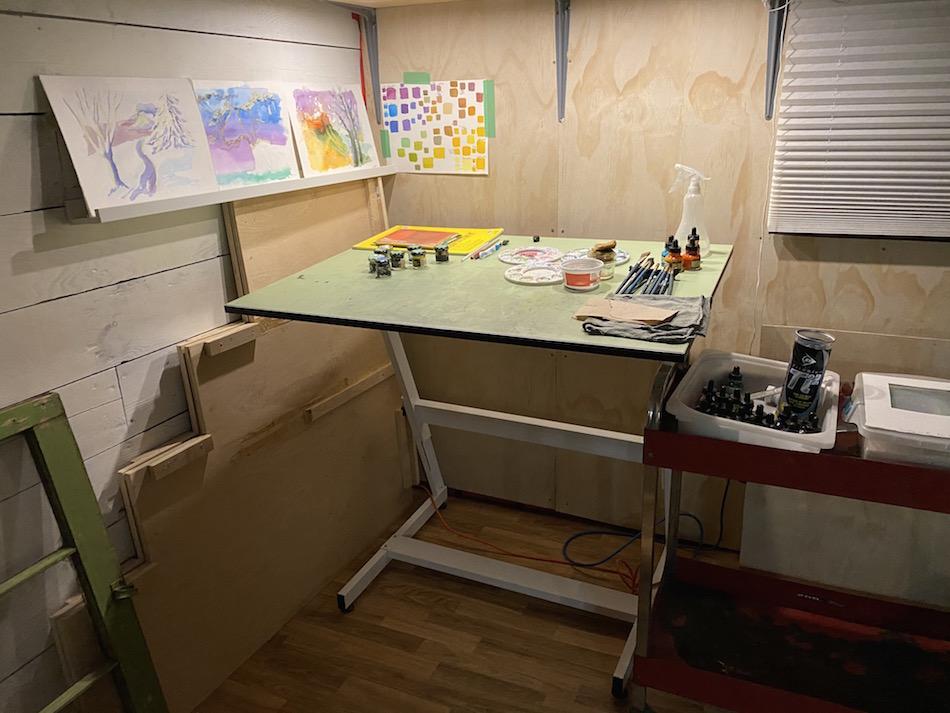 Jessica Salvador art studio pen and ink colour station vancouver bc